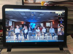 Photo videoconference Erasmus+ juin 2020